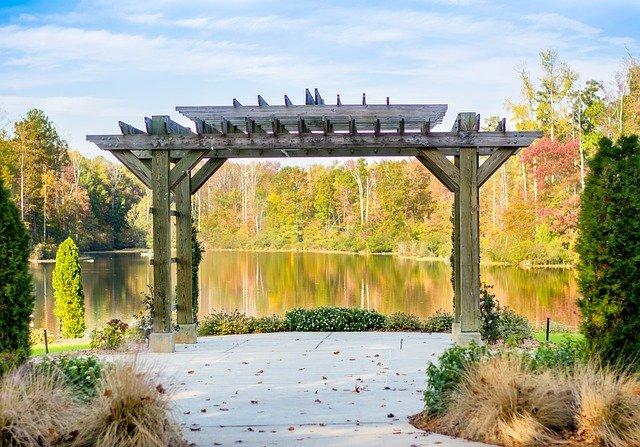 pergola u jezera